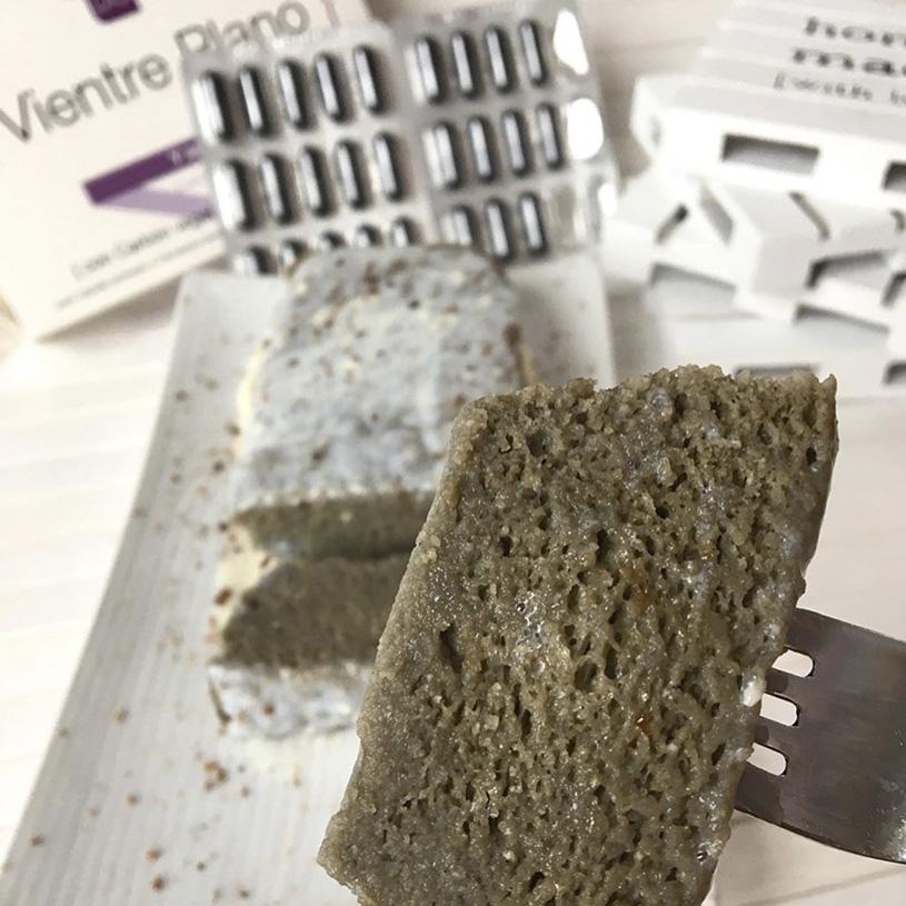Receta de Budín experimental de carbón activo