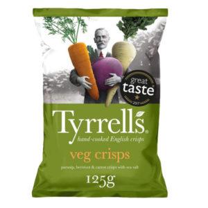 Tyrrells Veg Crisps 125g