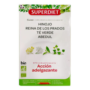 Cuarteto Té verde acción adelgazante 20 ampollas BIO SUPERDIET