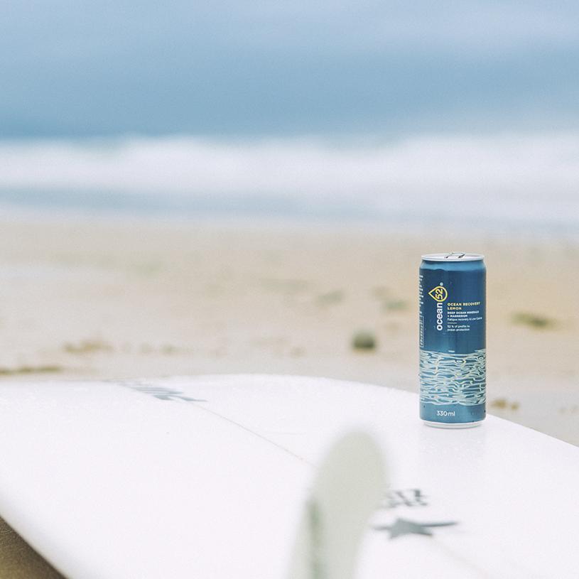 Refresco saludable con minerales del océano