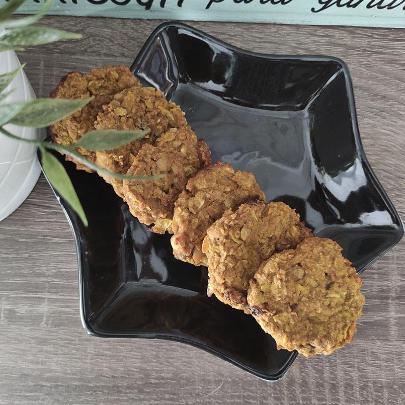 Receta de Galletas de manzana, Teff y Curcuma