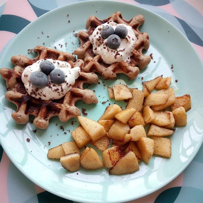 Receta de Gofres de Harina de Avena y Quinoa