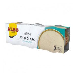 Atún claro al natural Albo pack de 3 latas de 56 g