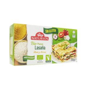 Lasaña de arroz y maíz sin gluten Natursoy 250gr
