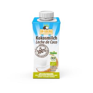 Leche de coco premium orgánica 200 ml Dr Goerg