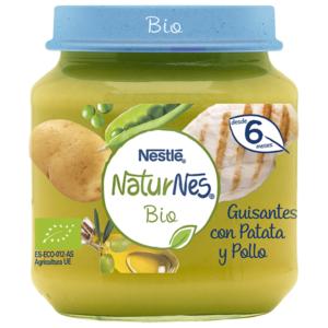 NATURNES BIO TARRITO Guisantes con Patata y Pollo 200g