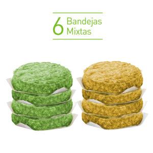 Pack Super Burger FIT 6 bandejas mixtas