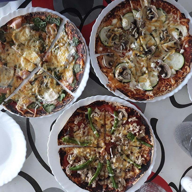 Receta de Pizza con Wraps
