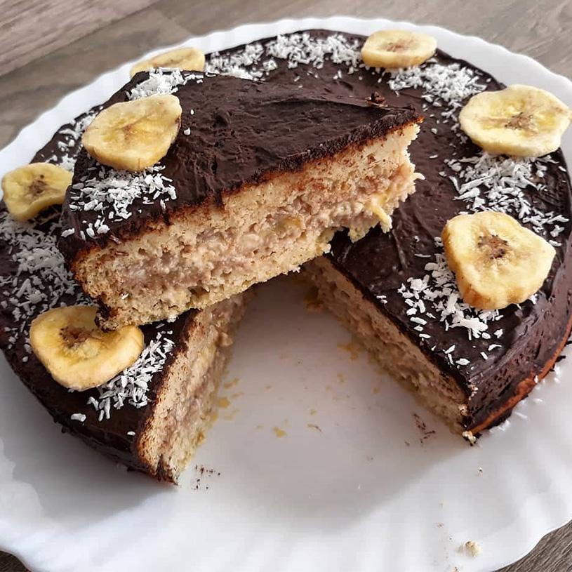 Receta de Bizcocho de Avena, Plátano y Coco