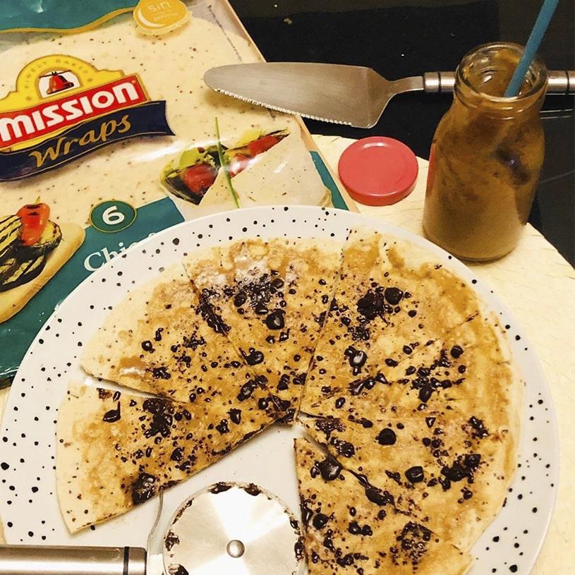 Receta de Pizza de Dulce con leche 2