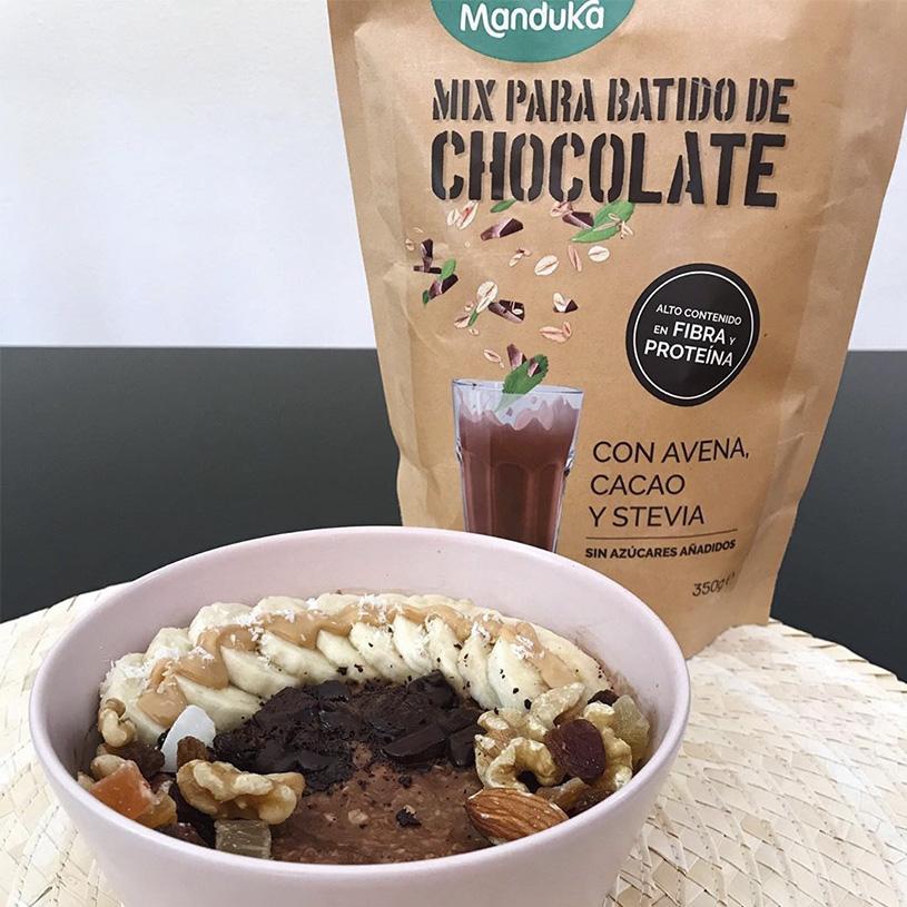 Receta de Bowl de Avena y Chocolate