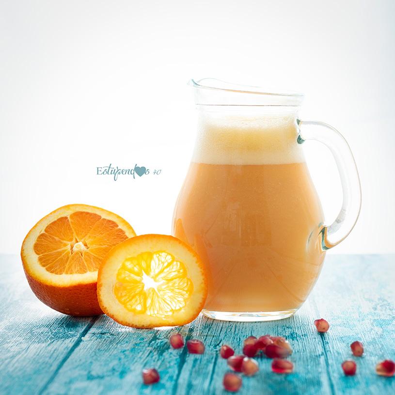 Receta de Batido de naranja, granada, aloe y mango