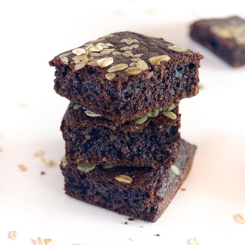 Receta de Bizcocho saludable de café cacao y muesli de avena