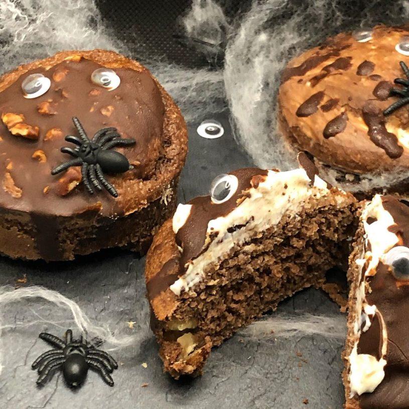Receta de Brownie de queso y nueces Halloween