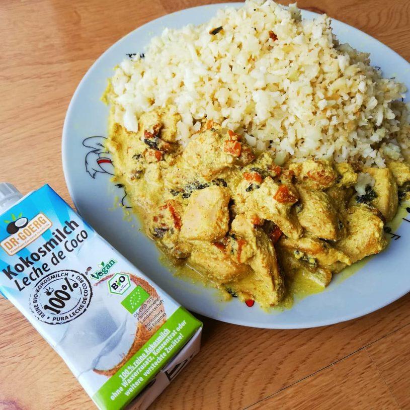 Receta de Coliarroz con Pollo al Curry