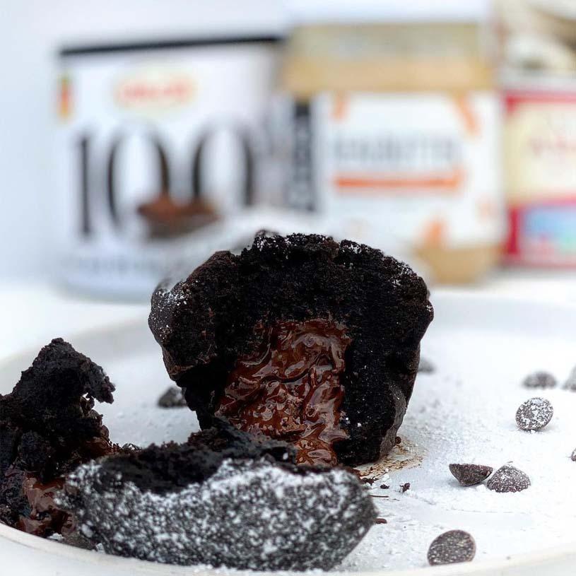 Receta de Coulant de chocolate saludable