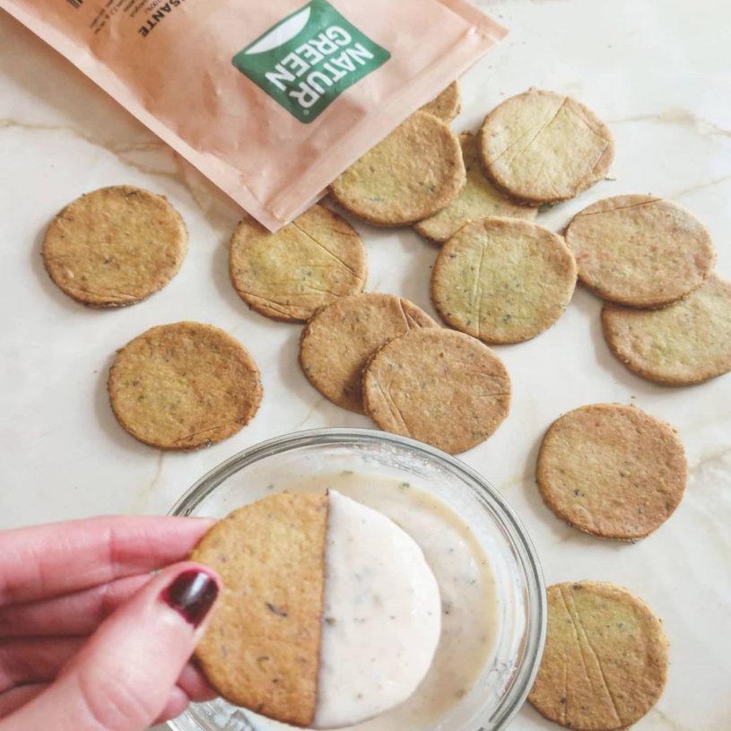 Receta de Crackers de Guisante