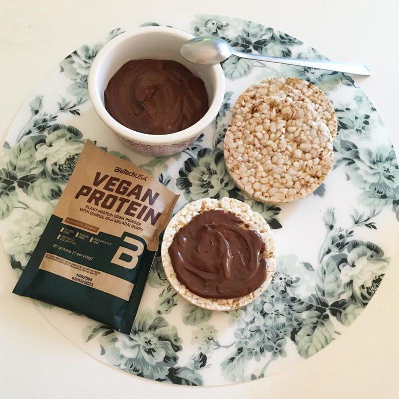 Receta de Crema de chocolate proteica y vegana