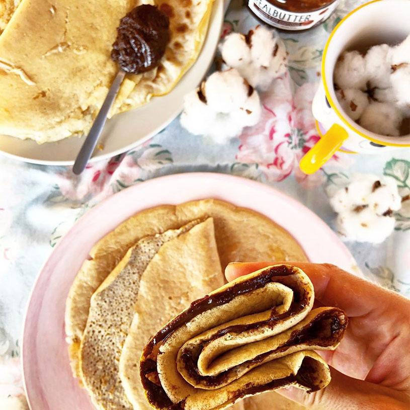 Receta de Crepes con crema de avellanas y cacao