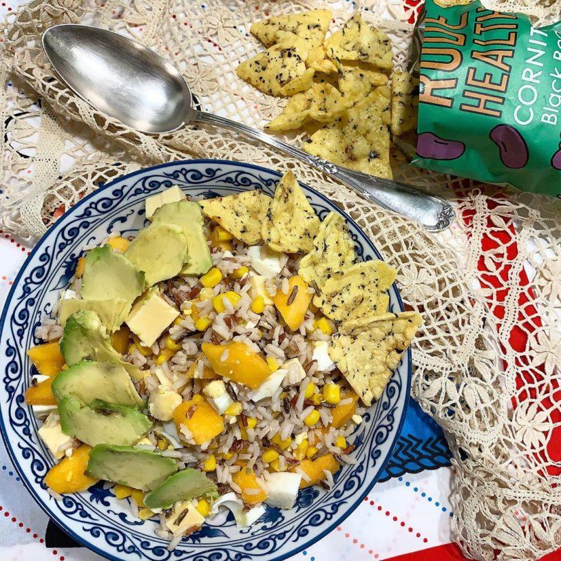 Receta de Ensalada de arroz con melocotón