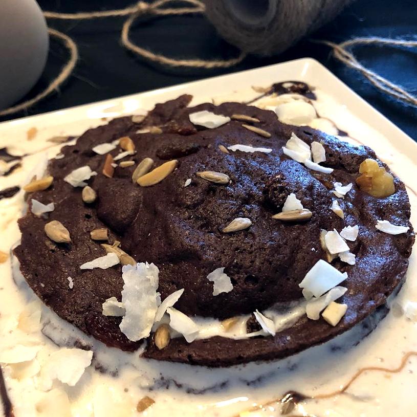 eceta de Galleta de brownie gigante fit