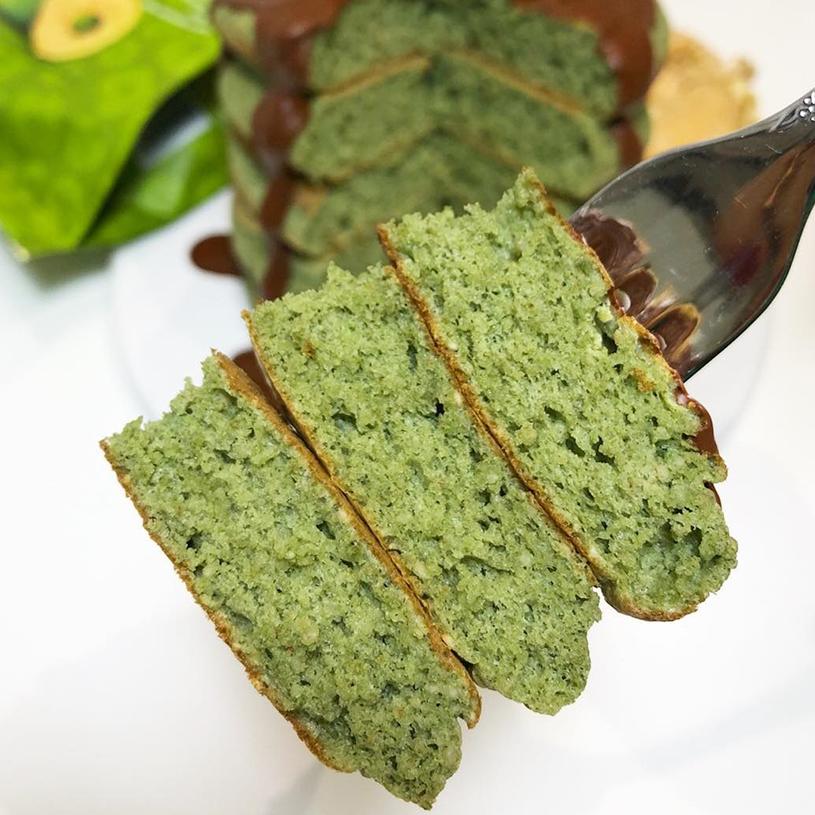 Receta de Green pancakes