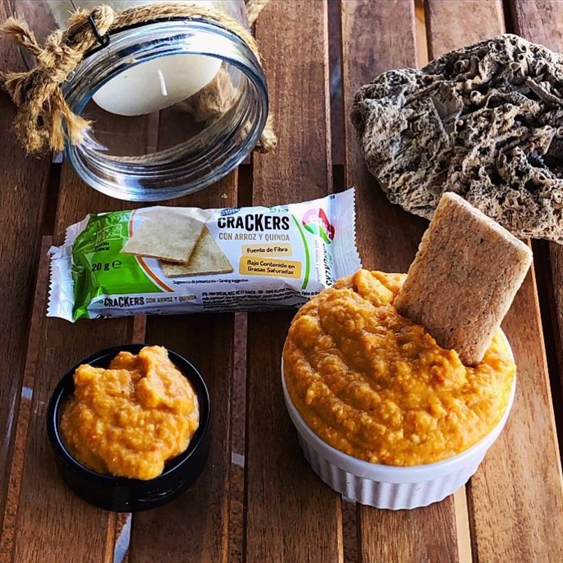 Receta de Hummus de pimiento rojo asado al microondas
