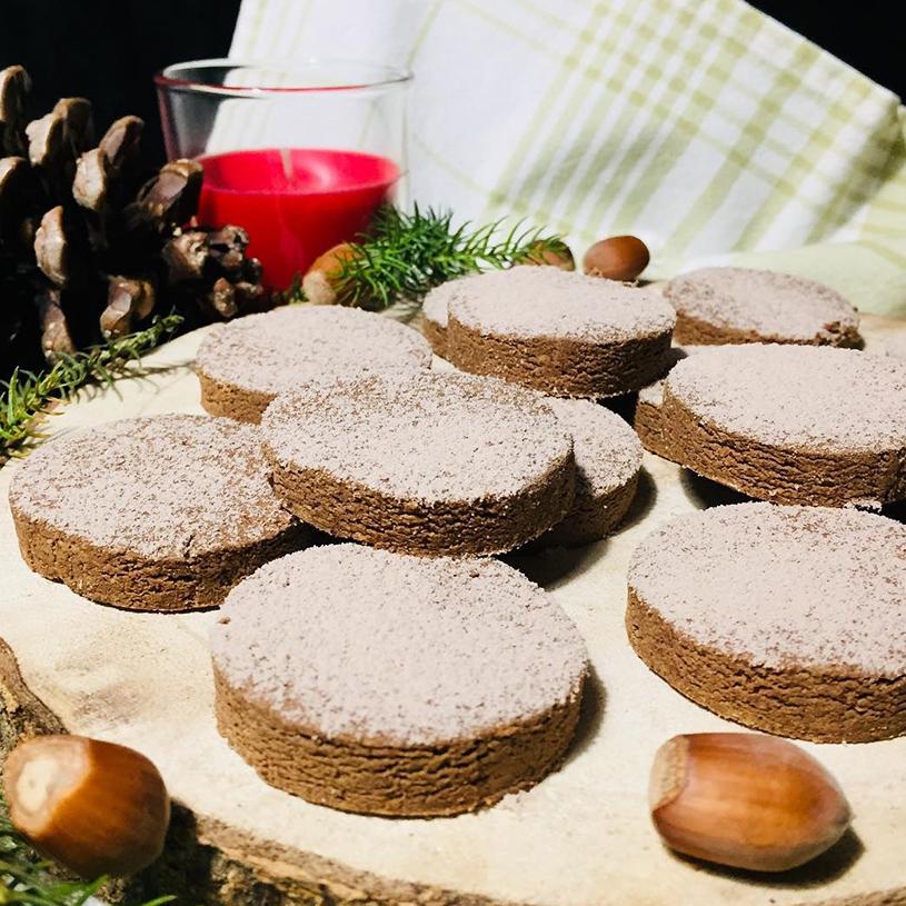 Receta de Mantecados de almendra & chocolate saludables