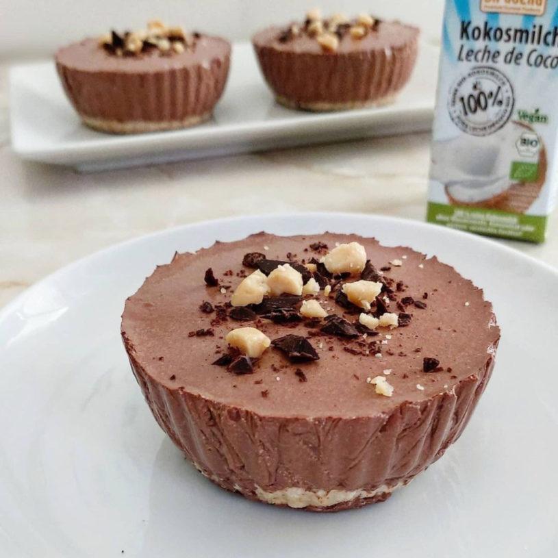 Receta de Mini Cheesecake de Chocolate