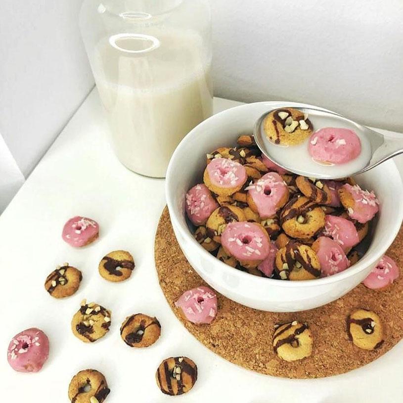 Receta de Mini Donuts de Cereal
