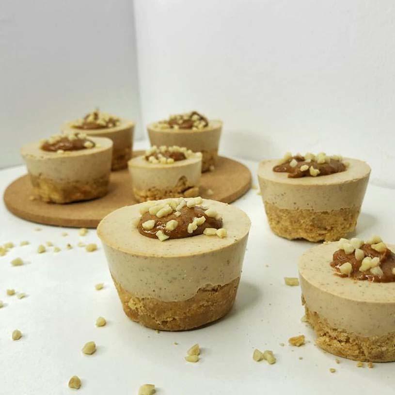 Receta de Mini cheesecakes veganos sabor turrón