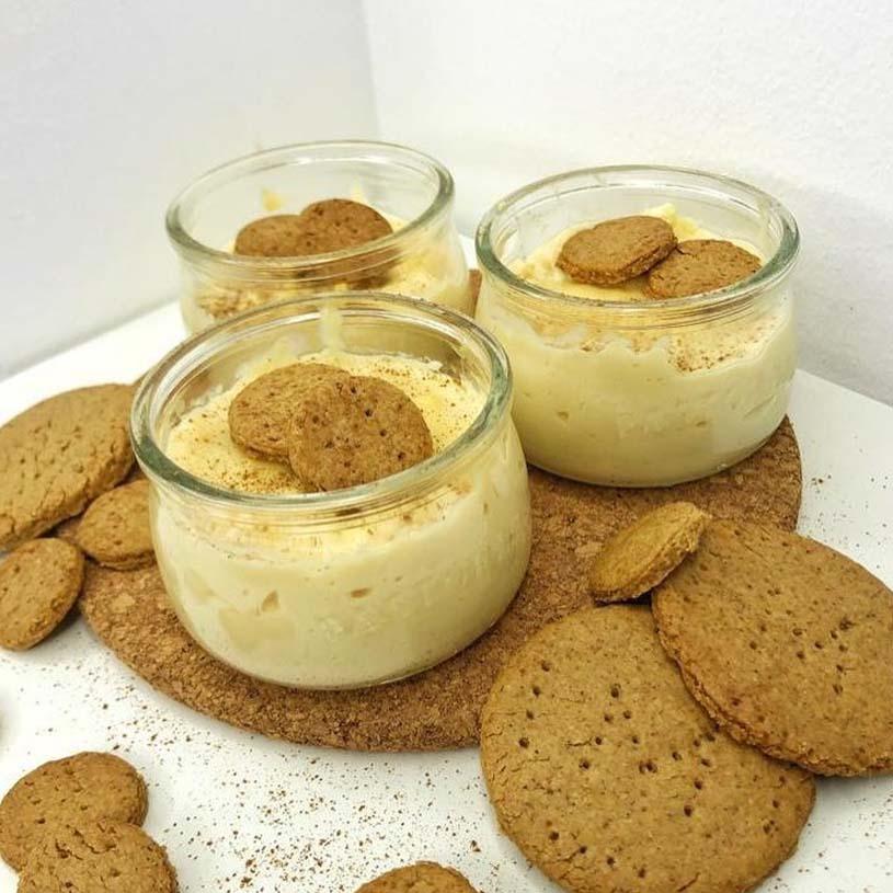 Receta de Natillas proteicas sabor choco blanco