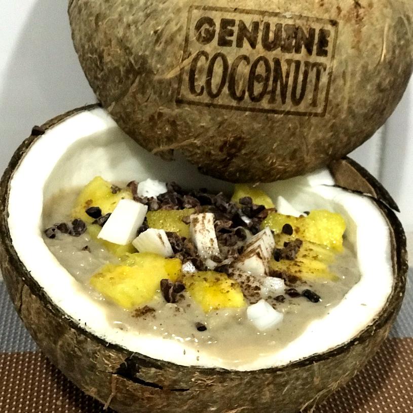 Receta de Porridge de coco y piña