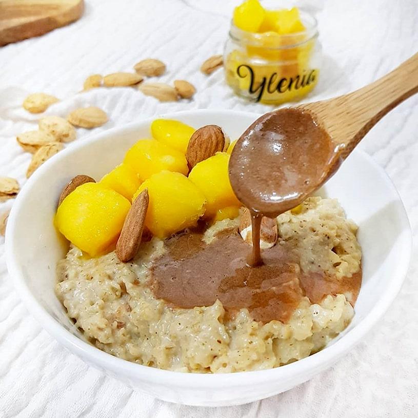 Receta de Porridge de mango