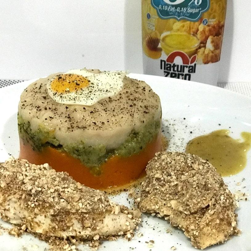 Receta de Solomillo con timbal de verduras
