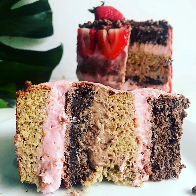 Receta de Tarta de fresa y chocolate