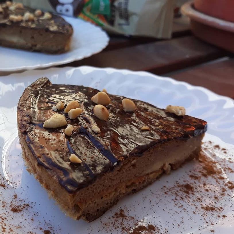 Receta de bizcocho de café, chocolate y crema de cacahuete