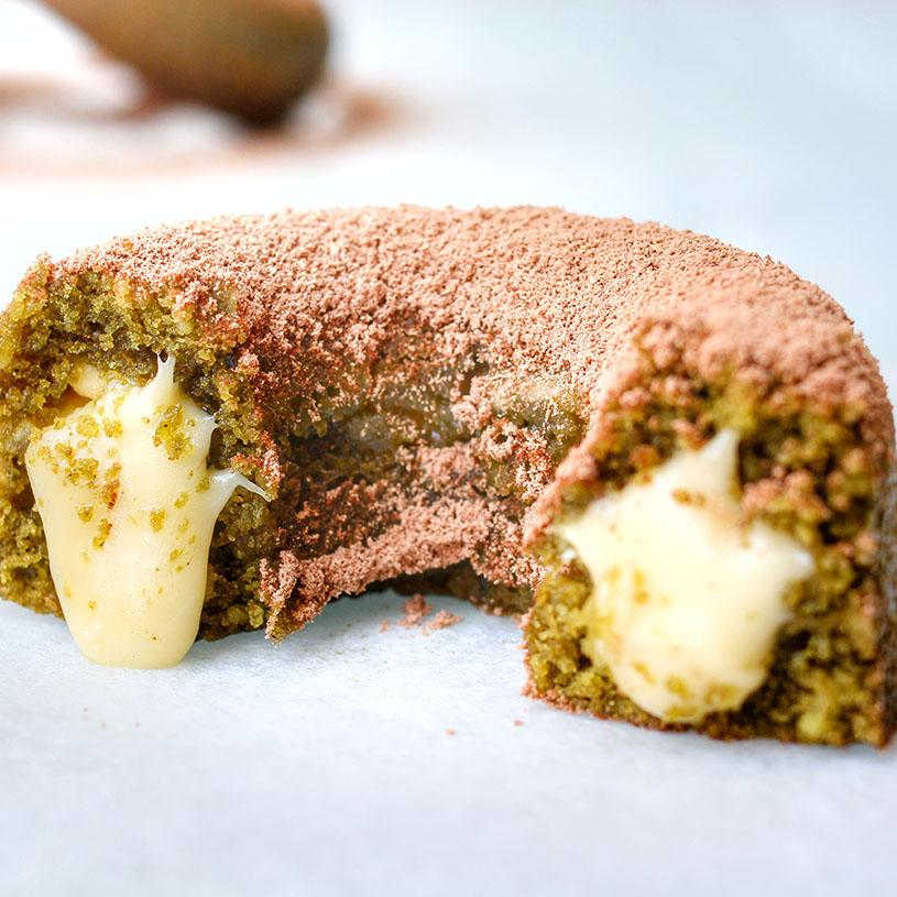 Receta de Matcha Donuts rellenos de Chocolate Blanco