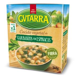 Cocido de Garbanzos con Espinacas Gvtarra 340g