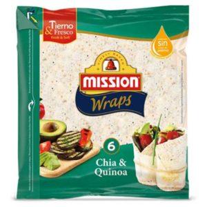 Wraps Chia y Quinoa 370g Mission