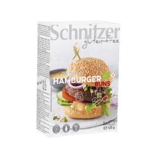 Organic Hamburger Buns (1x125g) Schnitzer