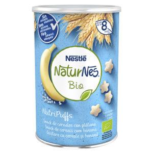 NATURNES BIO Nutri Puffs Snack de Cereales con Plátano 35g
