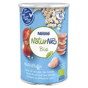 NATURNES BIO Nutri Puffs Snack de Cereales con Tomate 35g