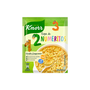 Sopa de numeritos Knorr 84 g